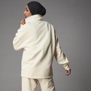 Women Originals White Adicolor Classics Half-Zip Sweatshirt