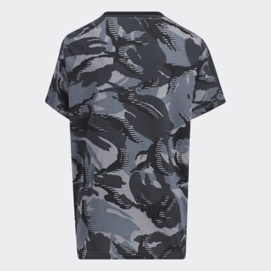Youth Training Black Action Camo Tee