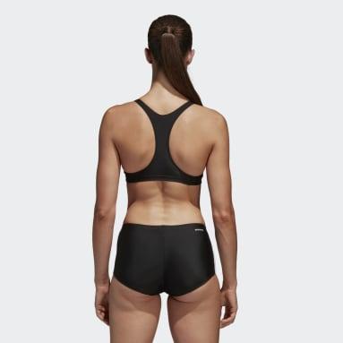 Bikini do pływania adidas essence core 3 stripes Czerń