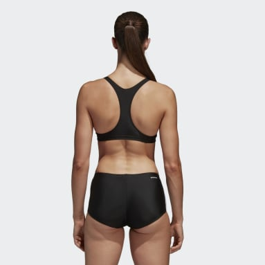 Bikini Essence Core 3-Stripes Nero Donna Nuoto