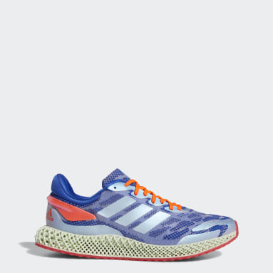 วิ่ง สีน้ำเงิน รองเท้า adidas 4D Run 1.0