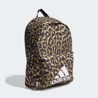 Women Training Multicolor Badge of Sport Leopard Backpack