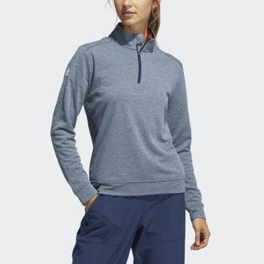 Boys Golf Blue Boys' Heather Quarter-Zip Pullover