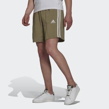 Heren Sportswear Groen Essentials French Terry 3-Stripes Short