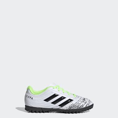 Zapatos de fútbol Copa 20.4 Pasto Sintético Blanco Niño Fútbol