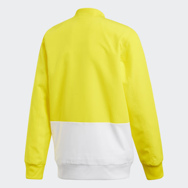 Youth 8-16 Years Football Yellow Condivo 18 Presentation Track Top