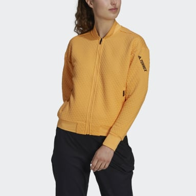 Women TERREX Orange Terrex Hike Fleece Jacket