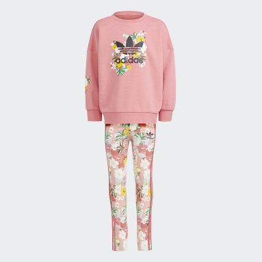 Ensemble HER Studio London Floral Crew Rose Enfants Originals