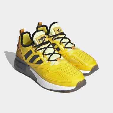 Men Originals Yellow Ninja ZX 2K Boost Shoes