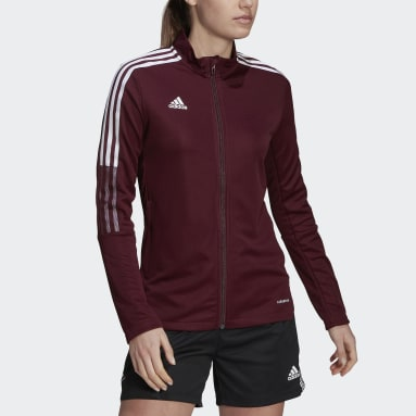 Women Football Red Tiro 21 Track Jacket