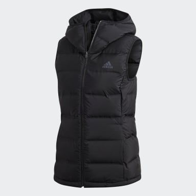 Women City Outdoor Black HELIONIC Down Hooded Vest
