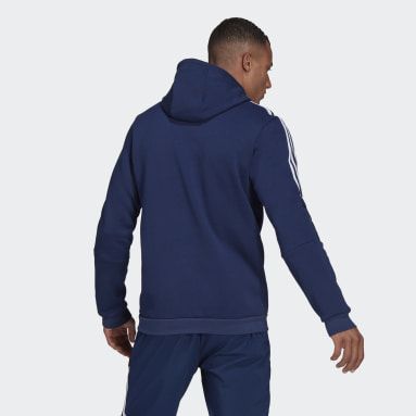 Men Football Blue Tiro 21 Sweat Hoodie