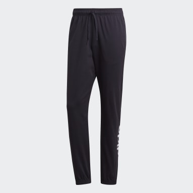 Men Gym & Training Black Essentials Linear Tapered Joggers