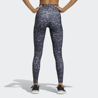 Women Gym & Training Grey Believe This Graphic Long Leggings