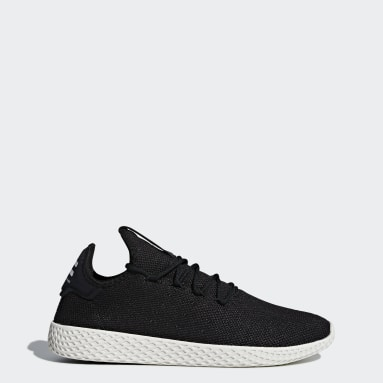 Heren Originals zwart Pharrell Williams Tennis Hu Schoenen