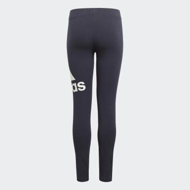 Youth 8-16 Years Sportswear Blue adidas Essentials Leggings