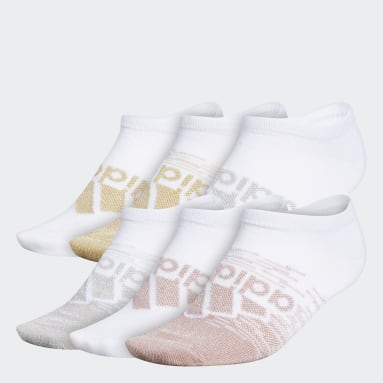 Women's Training White Superlite Badge of Sport No-Show Socks 6 Pairs