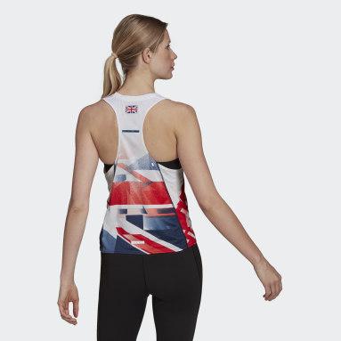 Women Gym & Training White Team GB Running Singlet