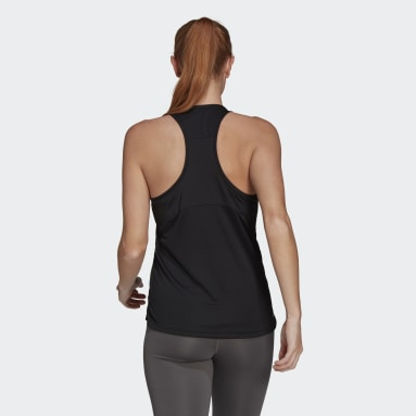 Dames Fitness En Training Zwart AEROREADY Designed 2 Move Logo Sport Tanktop