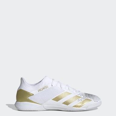 Futsal White Predator Mutator 20.3 Low Indoor Boots