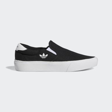 Children Originals Black Court Rallye Slip Shoes