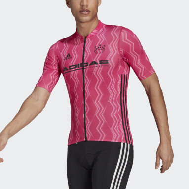Men Cycling Pink The Short Sleeve Cycling Graphic Jersey