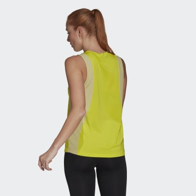 Polera Sin Mangas adidas Designed To Move AEROREADY Amarillo Mujer Training