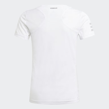 T-shirt Club Tennis blanc Adolescents Tennis