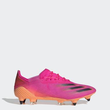 Bota de fútbol X Ghosted.1 césped natural húmedo Rosa Fútbol