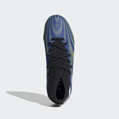 Boys Football Blue Nemeziz.3 Mixed Ground Boots