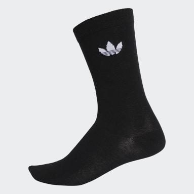 Meais Trefoil Crew Socks 2 Pares (UNISSEX) Preto Originals