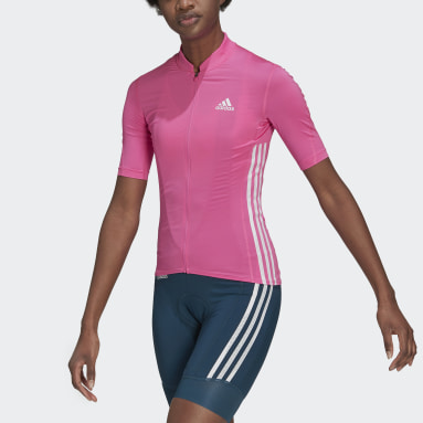Maillot The Short Sleeve Cycling Rose Femmes Cyclisme