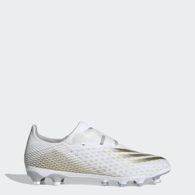 Zapatos de fútbol X Ghosted.2 Multiterreno Blanco Hombre Fútbol