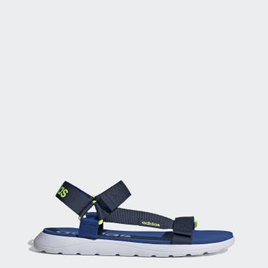 Sandálias confortáveis Azul Natação