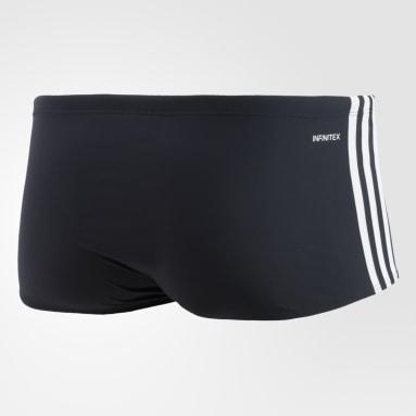 Sunga 3-Stripes Wide Preto Homem Natação