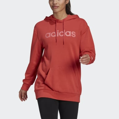 Women Sport Inspired Red adidas Essentials Oversize Logo Hoodie