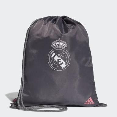 Bolsa Gym Sack Real Madrid (UNISSEX) Cinza Futebol