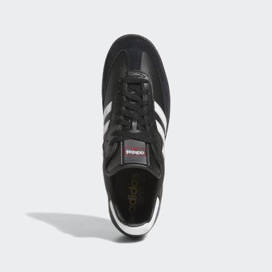 Futsal Samba Leather Schuh Schwarz