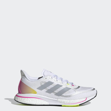 Women Running White Supernova+ Shoes