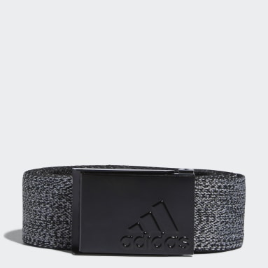 Men Golf Black Heather Stretch Reversible Belt