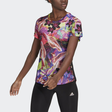 Dames Hardlopen Roze Own The Run Floral T-shirt