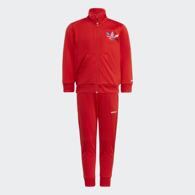 Track suit adicolor Rosso Bambini Originals