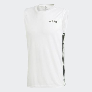 Mænd Udendørshockey Hvid Design 2 Move 3-Stripes T-shirt