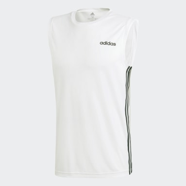 Remera Design 2 Move 3 Tiras Blanco Hombre Training
