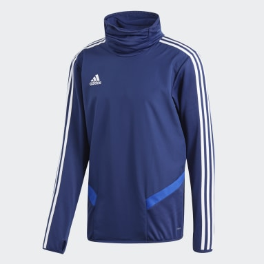 Men Gym & Training Blue Tiro 19 Warm Top