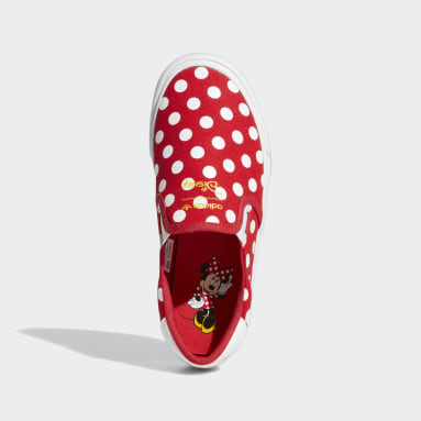 Youth Originals Red Court Rallye Slip x Minnie Shoes