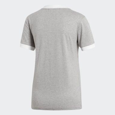 Camiseta 3-Stripes Cinza Mulher Originals