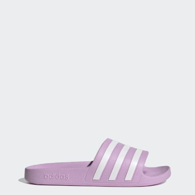 Women Swimming Purple Adilette Aqua Slides