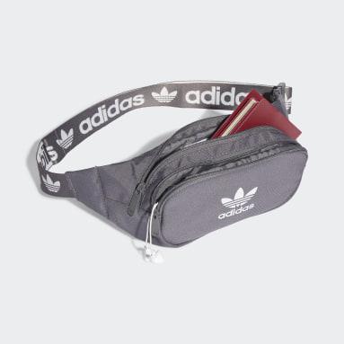 Originals Grey Adicolor Branded Webbing Waist Bag