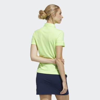 Women Golf Yellow Polo Shirt